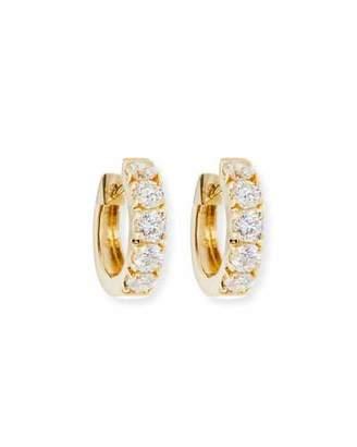 Sydney Evan Wide Huggie Diamond Hoop Earrings