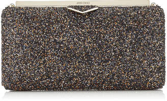 Jimmy Choo ELLIPSE Amethyst Mix Clutch Bag in Twinkle Glitter Fabric
