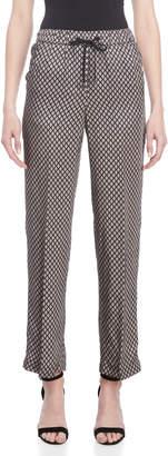 Peserico Diamond Print Drawstring Pants