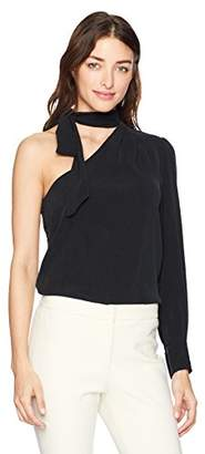 AG Adriano Goldschmied Women's Malia Tie Neck Top