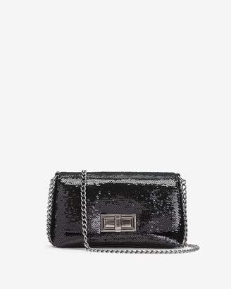 Express Sequin Turnlock Mini Bag