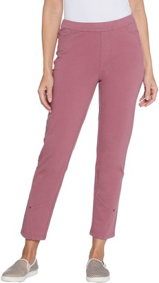 Denim & Co. Petite Comfy Denim Ankle Jeans w/ Seaming Detail