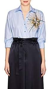 Osman Women's Galatea Starbust-Embellished Cotton Oxford Shirt - Blue