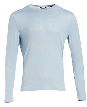 Saks Fifth Avenue Long Sleeve Curved Hem Crewneck Tee
