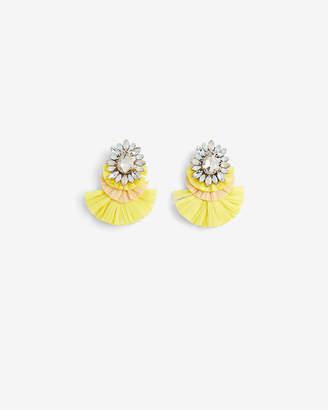 Express Tiered Stone Statement Earrings