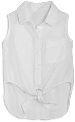 ede2b08964a81 Bella Dahl Girls  Sleeveless Tie-Front Shirt - Little Kid