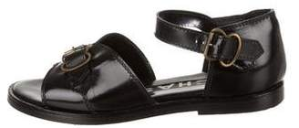 Rochas Multistrap Leather Sandals