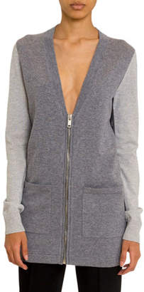 Givenchy Cashmere Colorblocked Zip-Front Cardigan