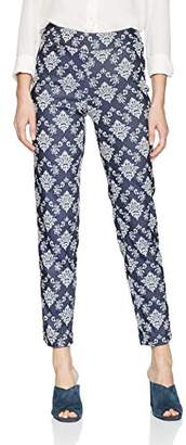 SLIM-SATION Women's Pull-On Pattern Jacquard Ankle Pant