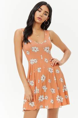 Forever 21 Floral Print Swing Dress