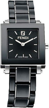 Fendi Ceramic Quadro Watch, Small Black