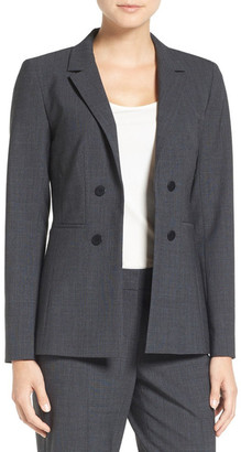 EMERSON ROSE Faux Double Breasted Suit Jacket $179 thestylecure.com