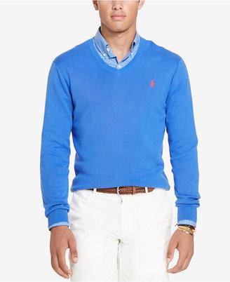 Polo Ralph Lauren Men's Slim-Fit V-Neck Sweater $98.50 thestylecure.com