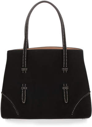 Black suede studded small tote Alaia