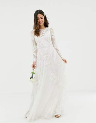 Asos Edition EDITION nouveau embroidered wedding dress