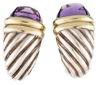 David Yurman Amethyst Cable Earrings