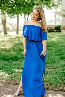 Izzie's Boutique Cobalt Maxi Dress
