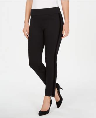 Charter Club Petite Velvet-Stripe Pull-On Pants