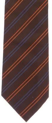 Balenciaga Striped Silk Tie