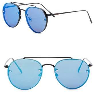 Steve Madden 57mm Rimless Aviator Sunglasses