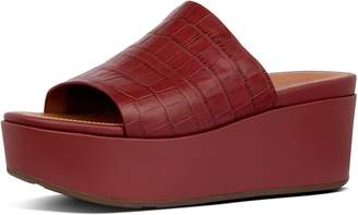 FitFlop Eloise Croc-Print Wedge Slides
