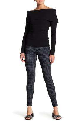 Theory Adbelle Plaid Stretch Leggings
