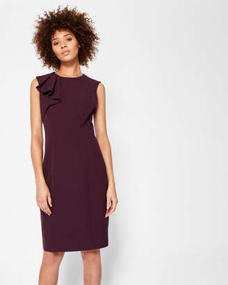 Ted Baker SURIAD Frill shoulder pencil dress