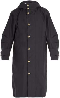 Thom Browne Articulated sleeve oversized hooded trench coat
