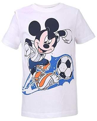Disney Boy's 74054 T-Shirt, (White 001)
