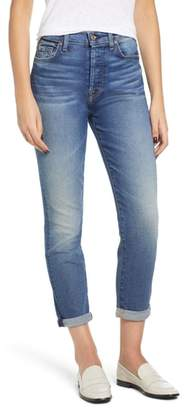 7 For All Mankind Josefina High Waist Roll Hem Boyfriend Jeans