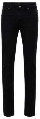 BOSS Hugo Extra-slim-fit black jeans in Italian stretch denim 36/32 Black