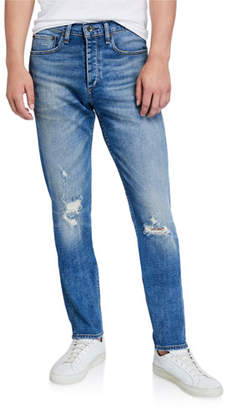 Rag & Bone Men's Standard Issue Fit 2 Mid-Rise Relaxed Slim-Fit Ripped-Knee Jeans