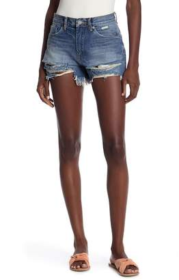 Blank NYC BLANKNYC Denim High Waist Distressed Denim Shorts