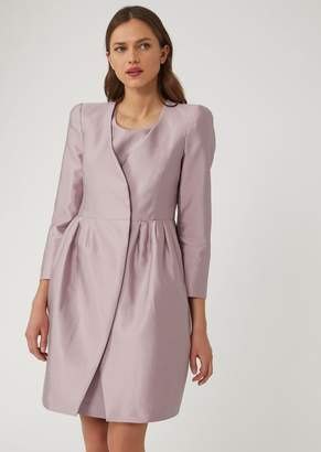 Emporio Armani Silk And Cotton Blend Radzimir Coat