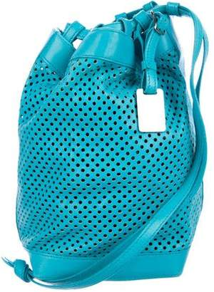 Celine Perforated Leather Drawstring Bag