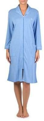 Claudel Polka Dot Zip Front Robe