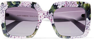 Dolce & Gabbana Square-frame Printed Acetate Sunglasses - Purple