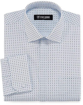 Stacy Adams Long Sleeve Woven Pattern Dress Shirt