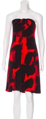 Michael Kors Silk Strapless Dress