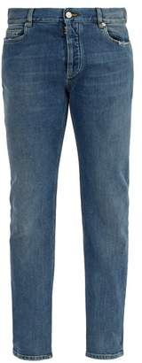 Maison Margiela Clear Panel Slim Leg Jeans - Mens - Blue