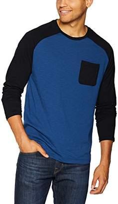 2xist Men's Long Sleeve Baseball Crewneck T-Shirt with Pocket Shirt