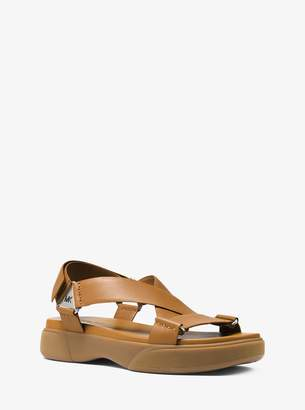 Michael Kors Milo Leather Sport Sandal