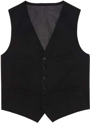 Banana Republic Solid Wool Suit Vest
