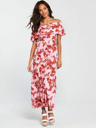 Very Cotton Maxi Dress - Floral Print