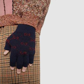 Gucci GG alpaca wool fingerless gloves