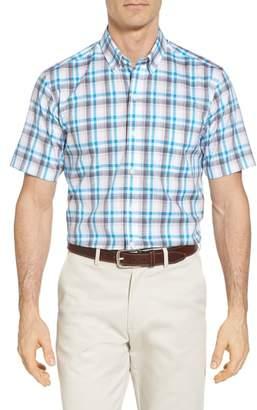 Cutter & Buck Sebastian Classic Fit Non-Iron Plaid Sport Shirt