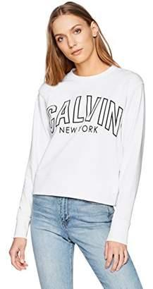 Calvin Klein Women's Flocked Logo Sweatshirt