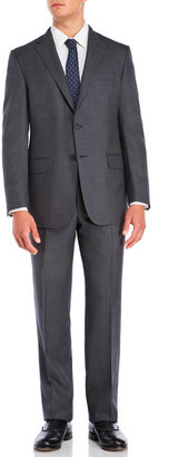 hickey freeman Grey Pinstripe Suit $1,495 thestylecure.com