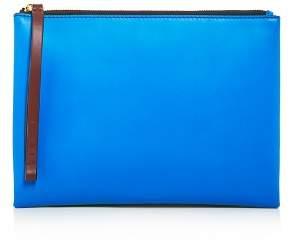 Marni Pochette Color-Block Leather Wristlet