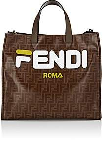 Fendi Women's Shopping Small Coated Canvas Tote Bag - White